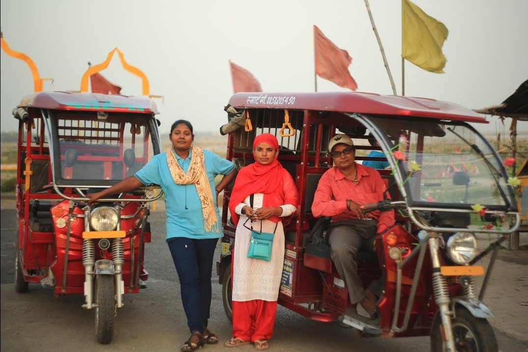 The Vahini Project encourages women to break stereotypes and become electric rickshaw drivers