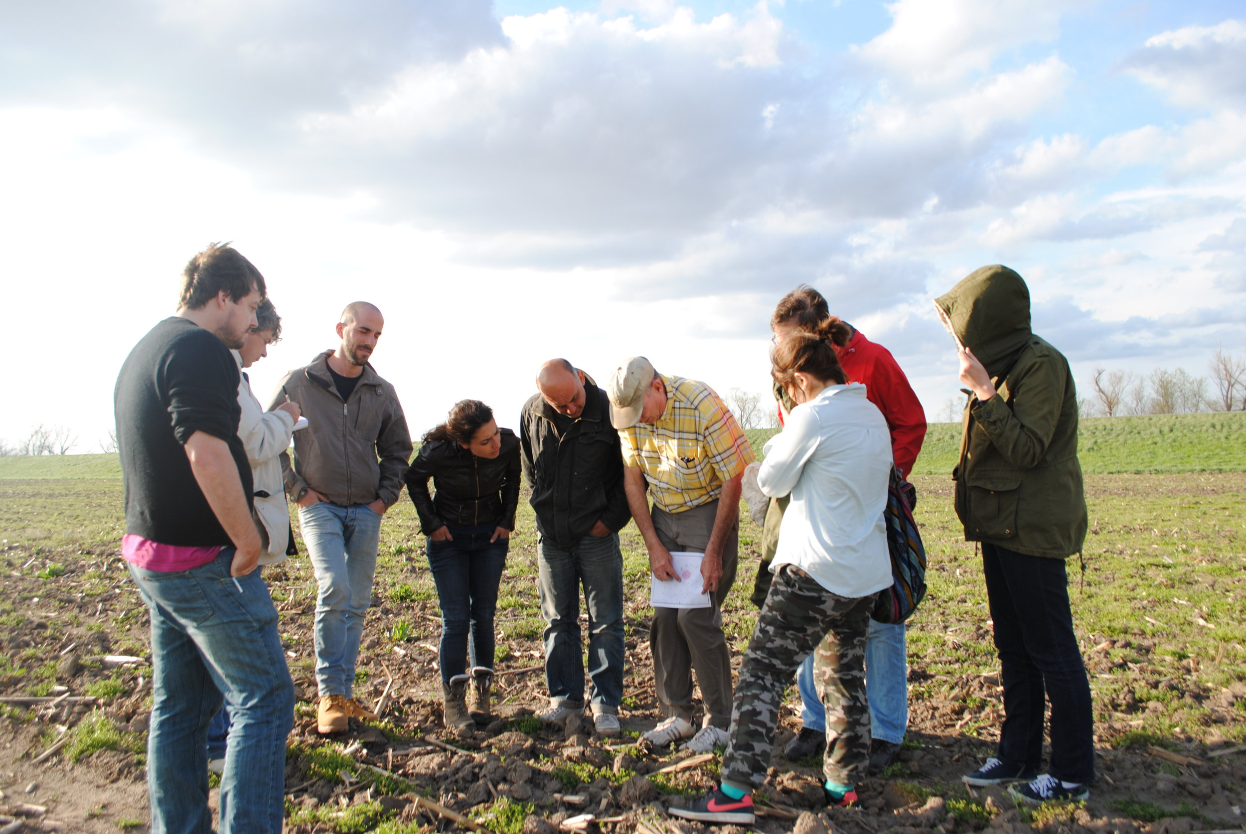 Italian student archaeologists tour the Cahokia Mounds World Heritage Site