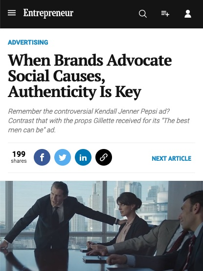 authenticity is key