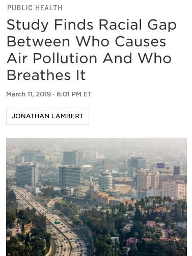 racial gap air quality