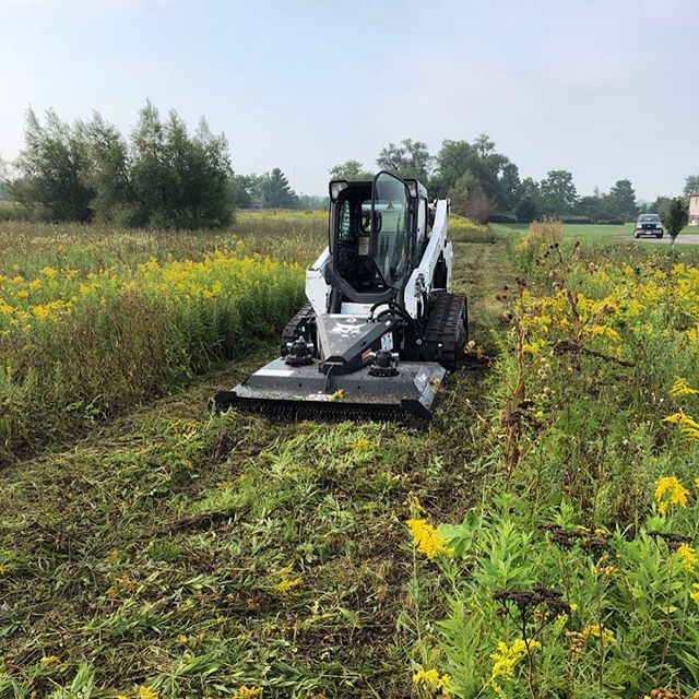 Busy day today had @cole.ritz do some major mowing in Onondaga while we continued on our Interlocking stone project in Kitchener#bobcat #land #investment #mowing #landclearing #landscaper #landscaping #development #brushcat #skidsteer #weeds #hardscapelife #landscapelife #kitchenerontario #waterlooontario #kitchenerwaterloo #bushhog #hardscapebrotherhood