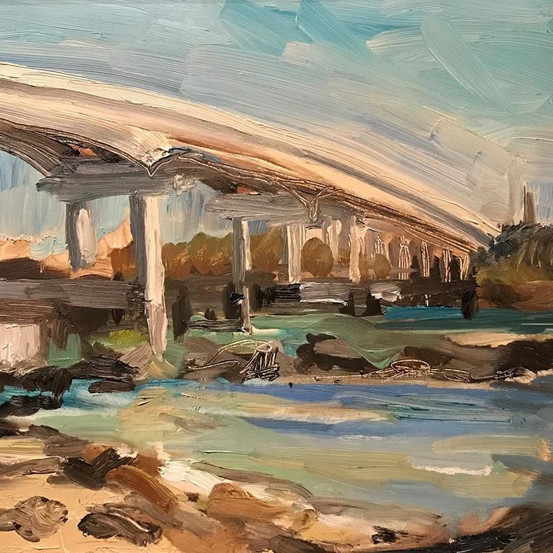 Landscape+painting%2C+oil+on+board%2C+Lisa+Steffens%2C+Asheville%2C+NC