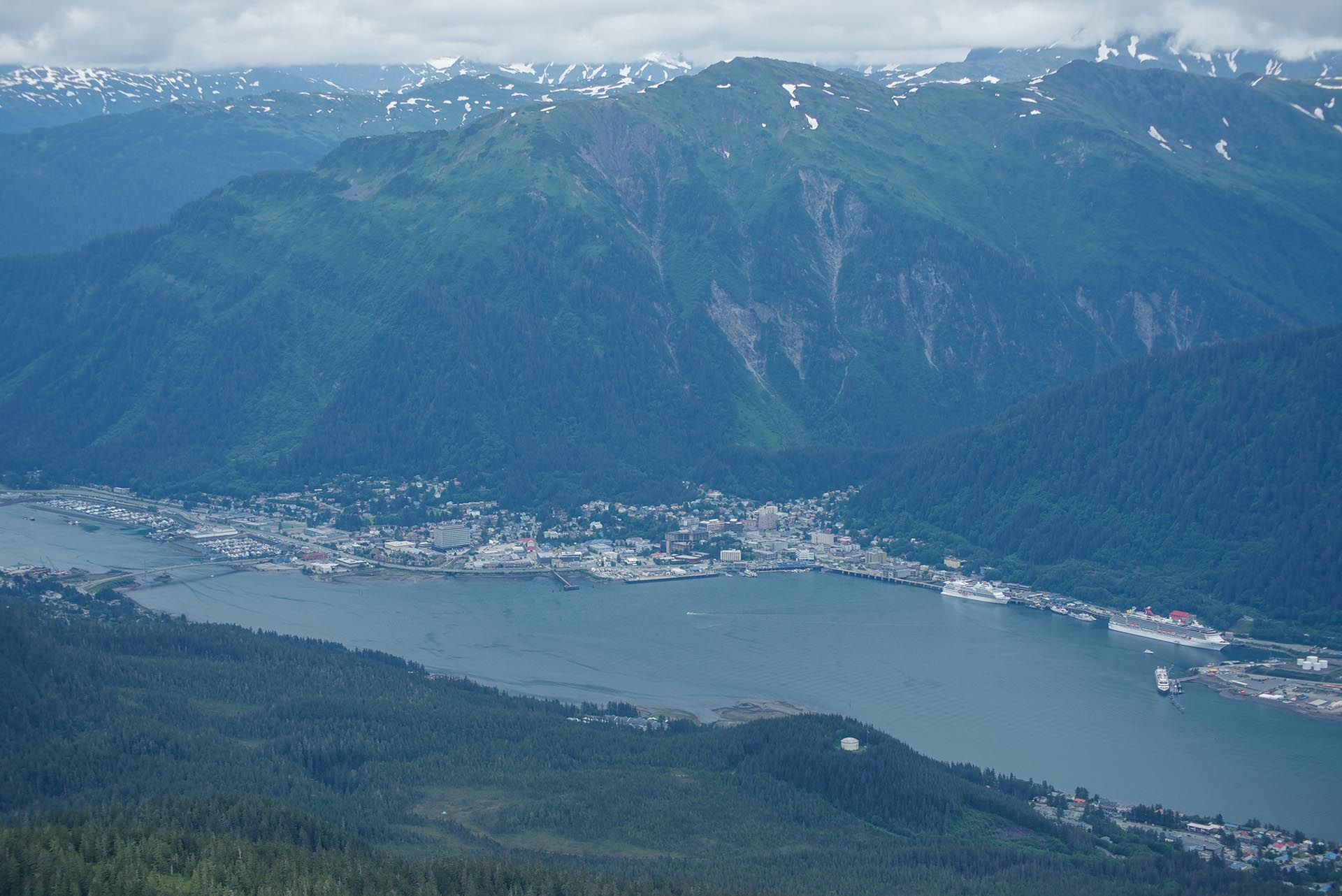 The view of Juneau from Mt. Jumbo.