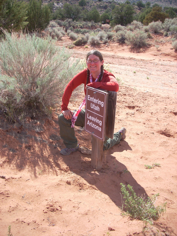 Heidi On The Arizona Trail Border Line