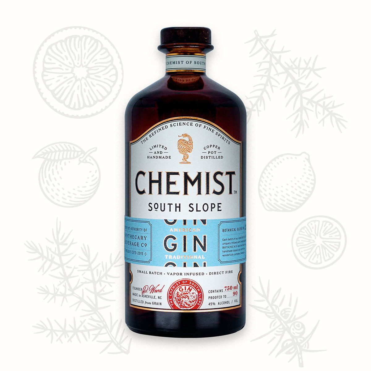 BEAUTIFULLY LIGHT AND FRESHAMERICAN GIN - The fresh and local flavors of the North Carolina Highlands give this uncommon gin a unique flavor profile that will tantalize your taste buds with every sip.