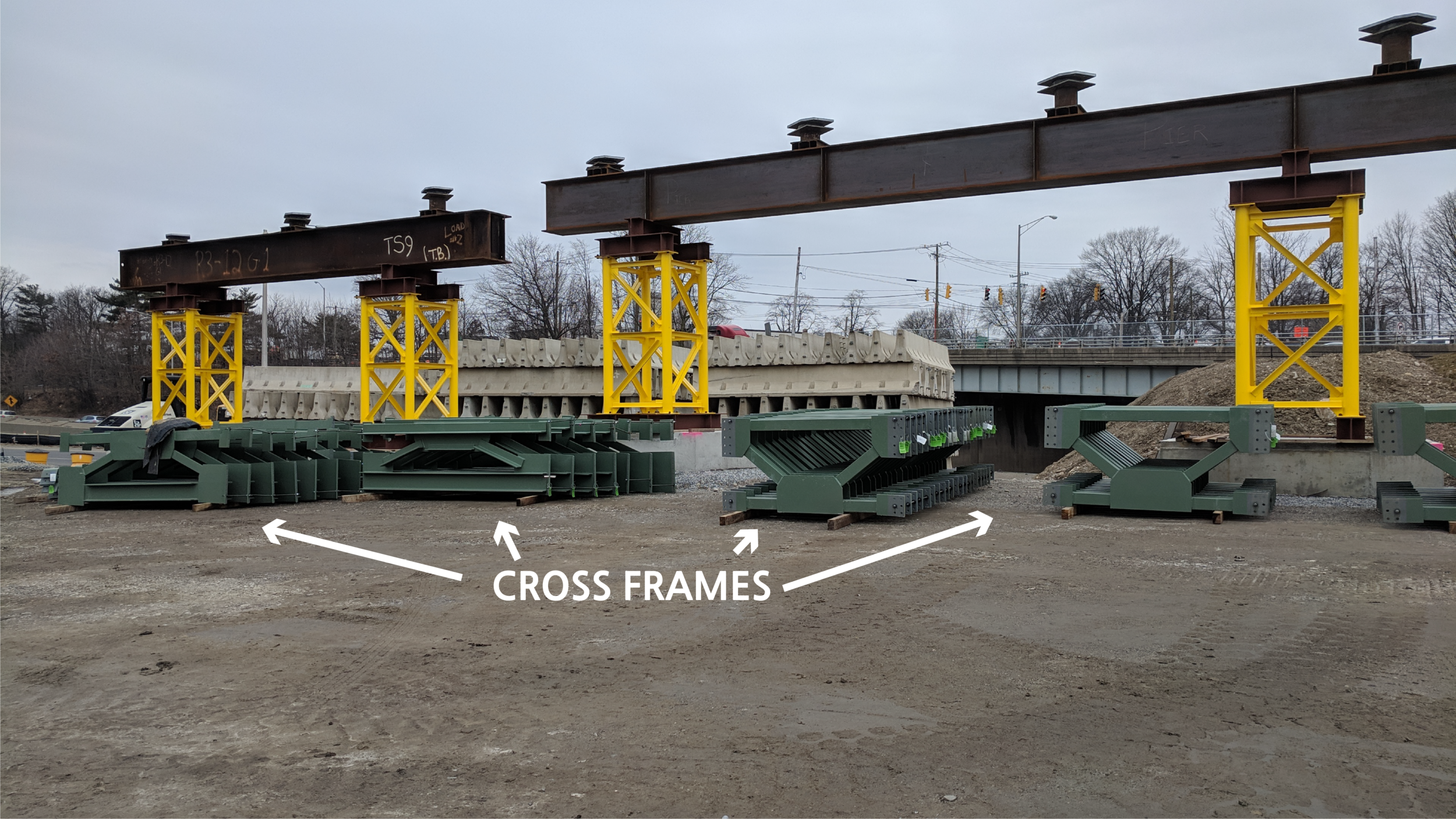 2/11/2019 by Jonathan Wu   The cross frames at the construction site