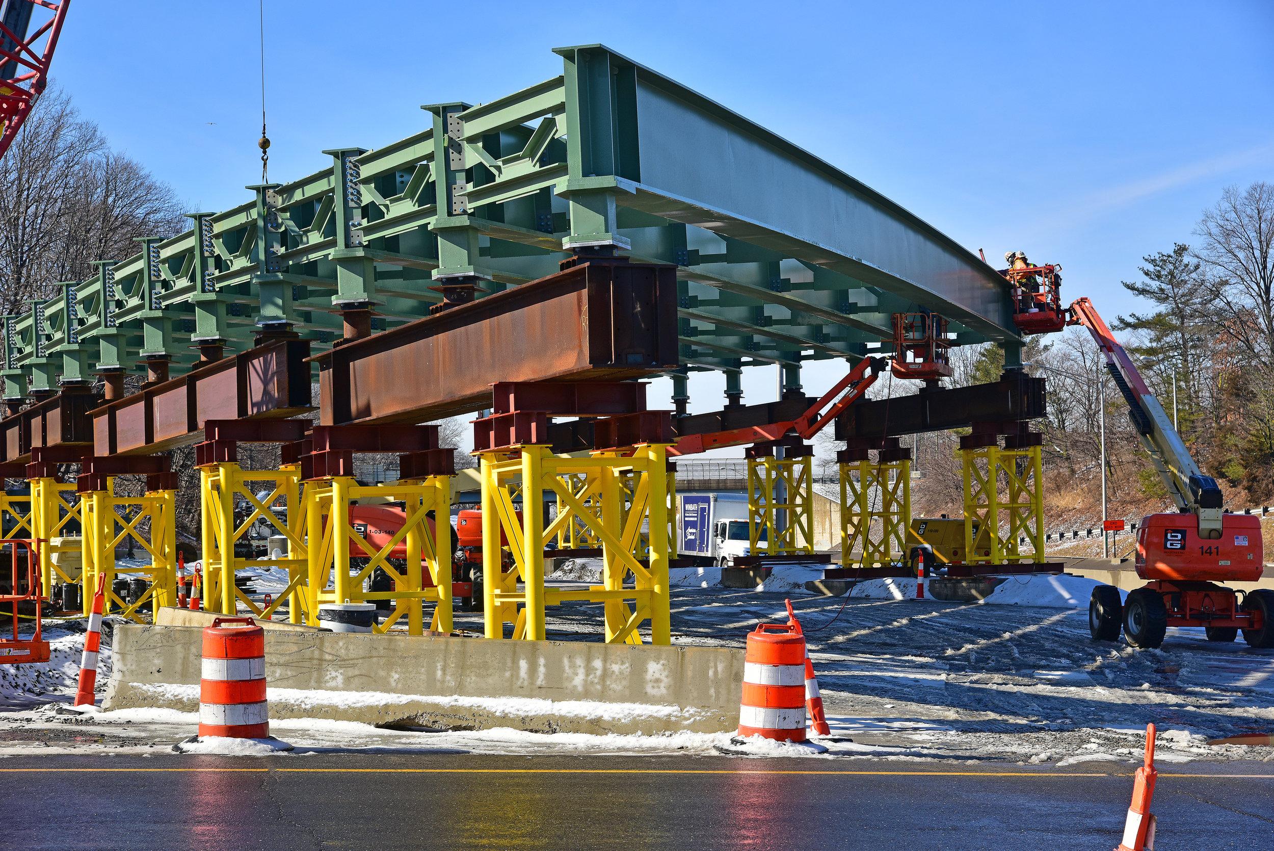 Bridge Span 2 taking shape.  Taken on 2/19 by Seth Duke