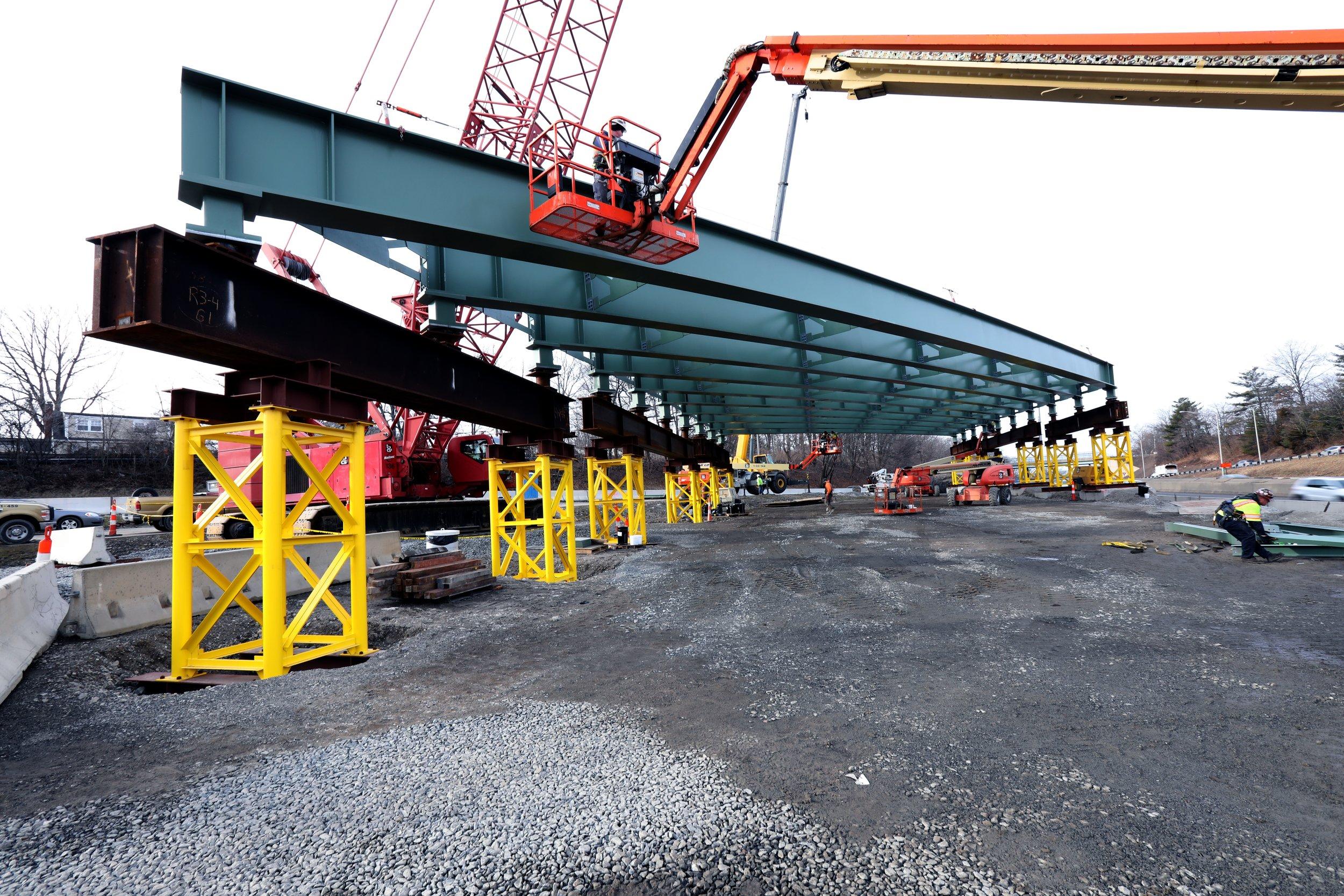 The Route 1 Bridge work site    2/23/2019 by Peter Venoutsos