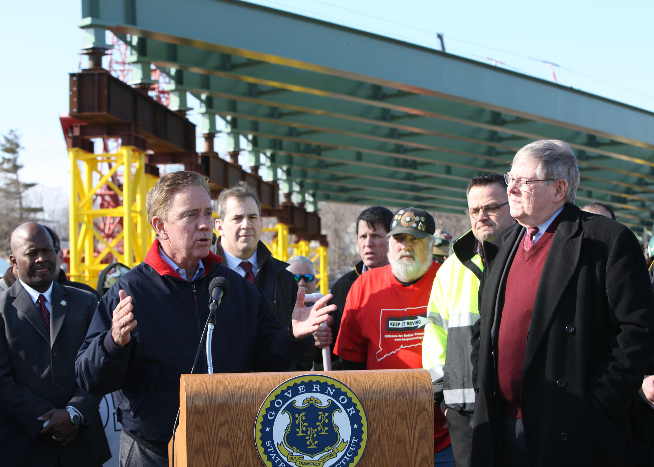 """Governor Lamont: """"We must provide Connecticut with a modernized transportation system that works.""""  Taken on 3/11/19 by Robert Moore"""