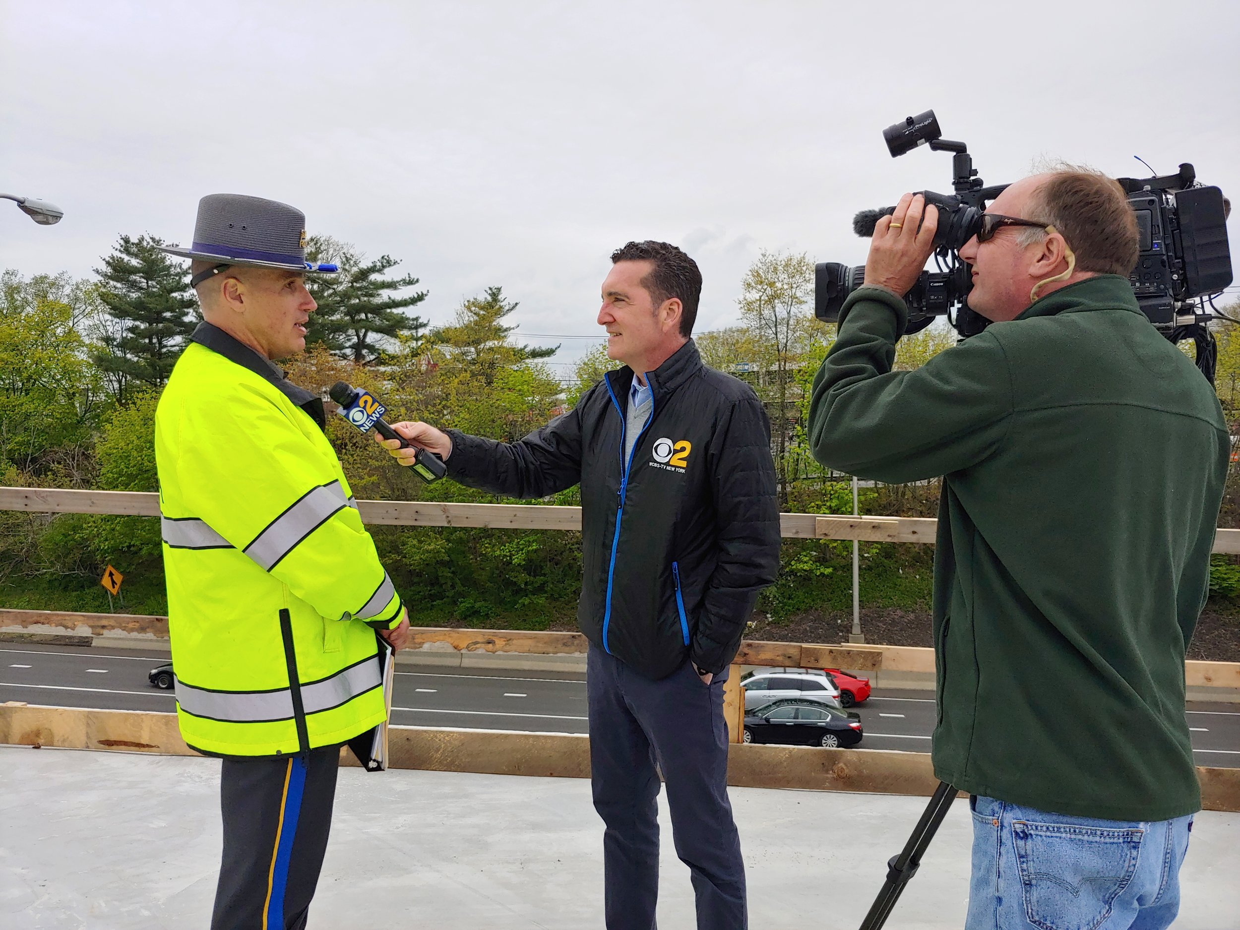 In an interview with Tony Aiello of WCBS Channel 2- New York, CT State Police Sgt Robert Derry urged motorists to avoid the area on construction weekends as long travel delays are expected.