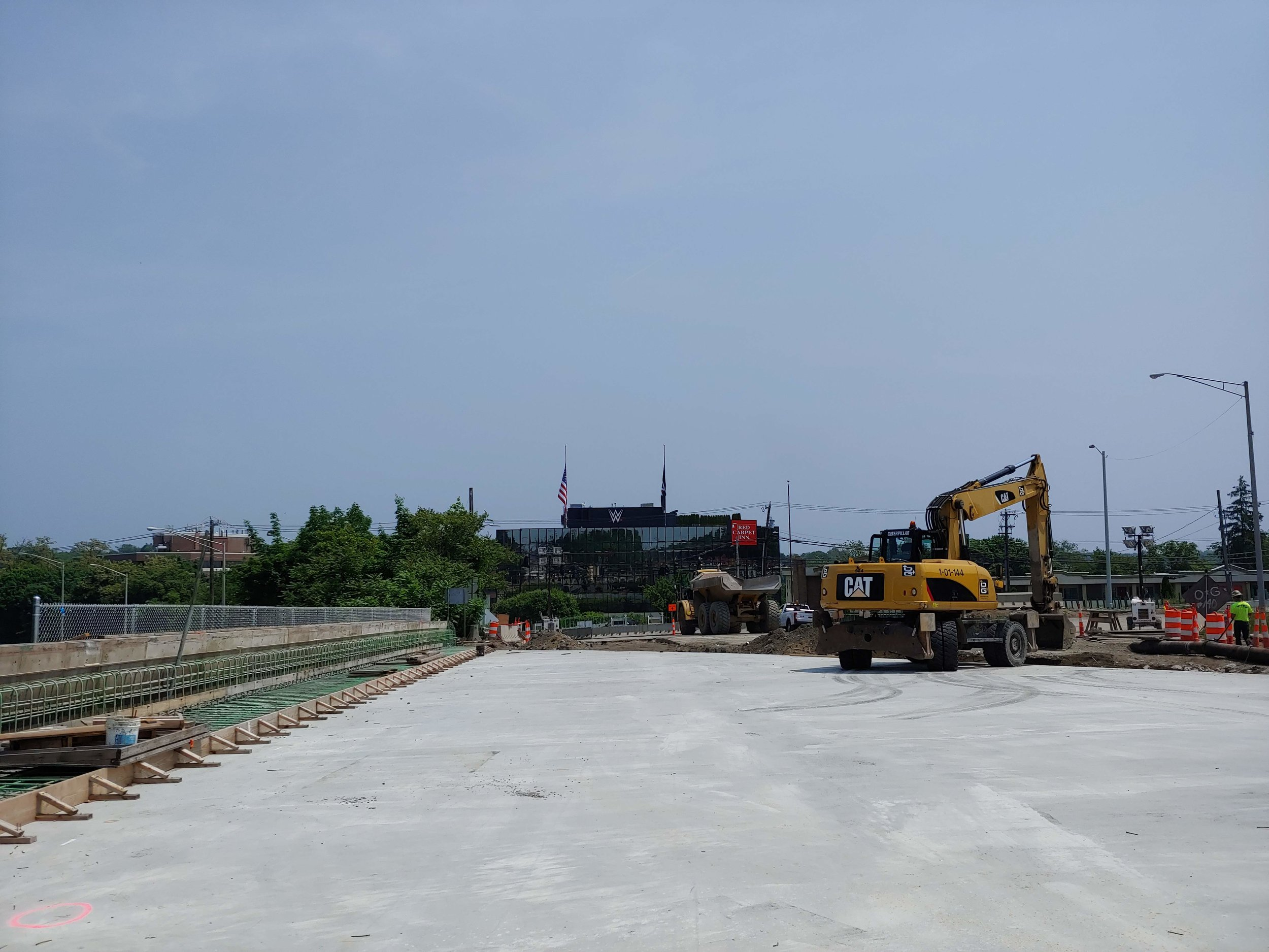 New Northbound bridge deck in place