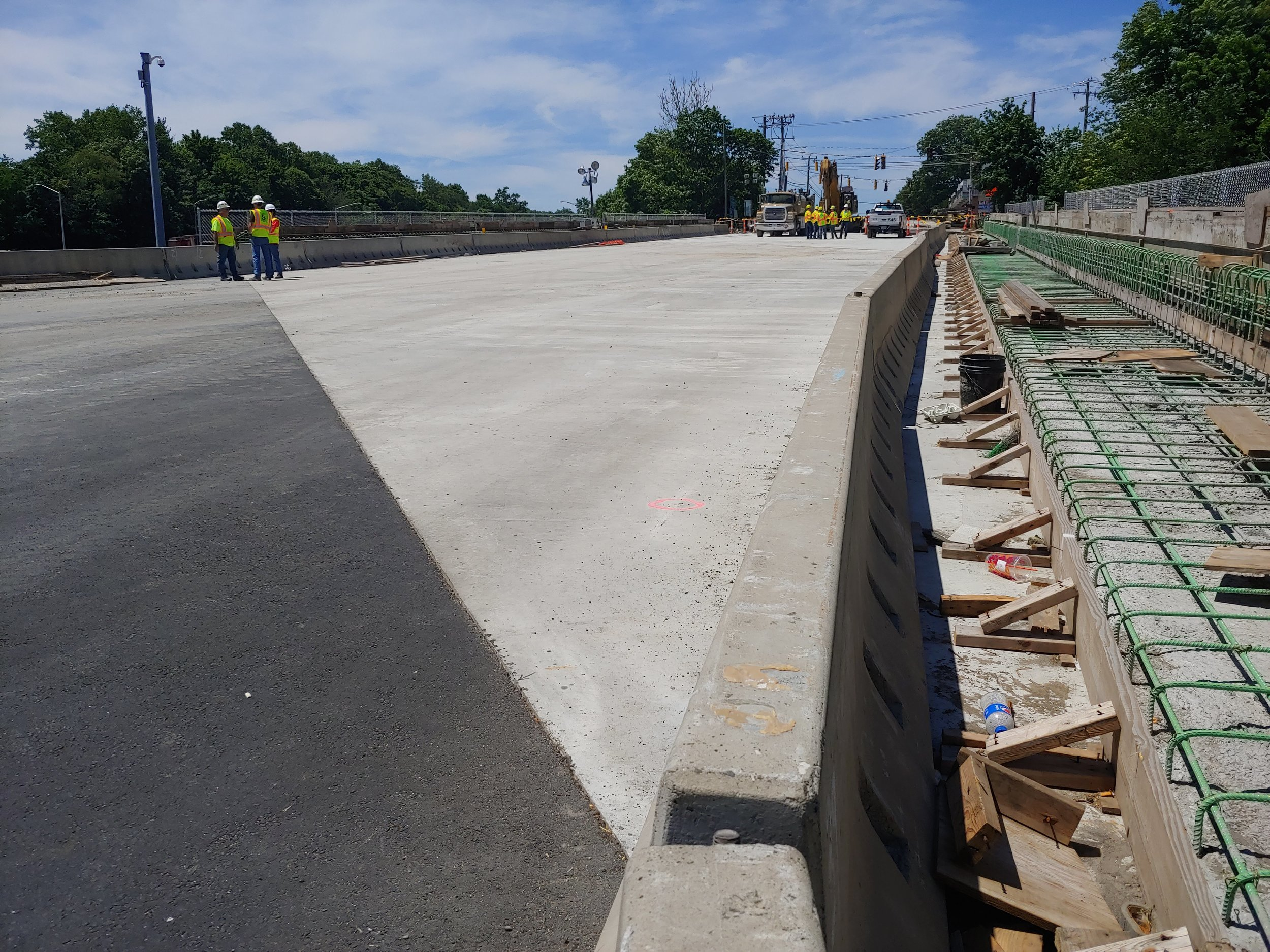 Both new bridge decks in place.  Taken on the morning of 6/9/19 by Kelsey Kahn