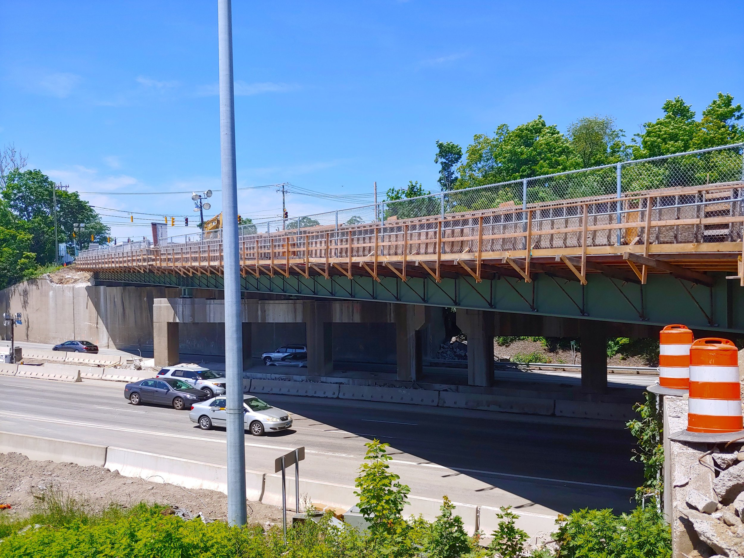 Both new bridge spans in place.  Taken on the morning of 6/9/19 by Kelsey Kahn