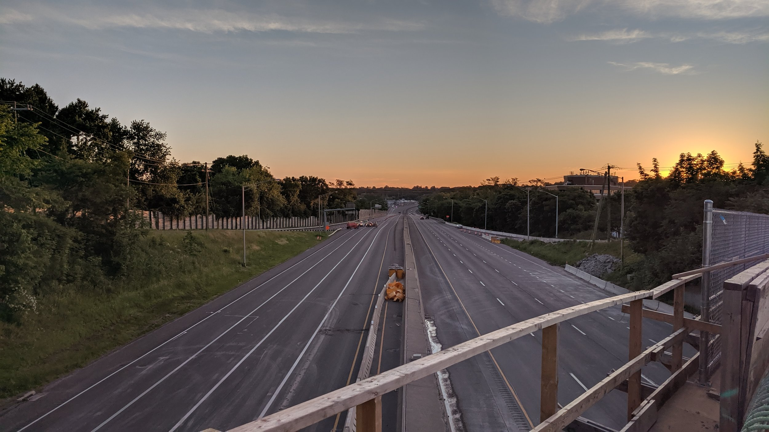 I-95 looking northbound, prior to opening up southbound lanes to traffic.  Taken the morning of 6/9/19 by Jonathan Wu