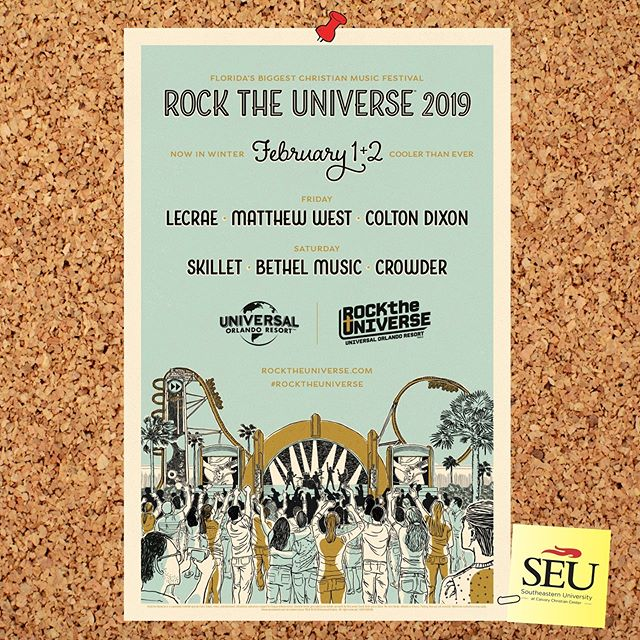 🎶 Rock the Universe 🎶  Our campus will be attending Rock the Universe at Universal Orlando • Deadline for registration and payment is January 25th -Comment or message for details.