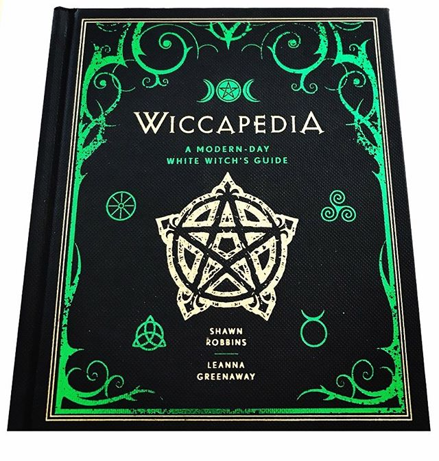 Wiccapedia: A Modern Day White Witch's Guide by Shawn Robbins and Leanna Greenway 🖤 . . . . . . . #bookofshadows #grimoire #spellbook #spells #wiccapedia #witchyvibes #witching #pagan #paganspirit #wicca #wiccan #wiccansofinstagram #wiccanspells #wiccanaltar #babywitch #hedgewitch #witchcraft #witch #witchesofinstagram #spellwork #magick #spirituality #metaphysicalshop #coventry #unitedkingdom #eclecticwitch #hedgewitch #stationery #libraryporn