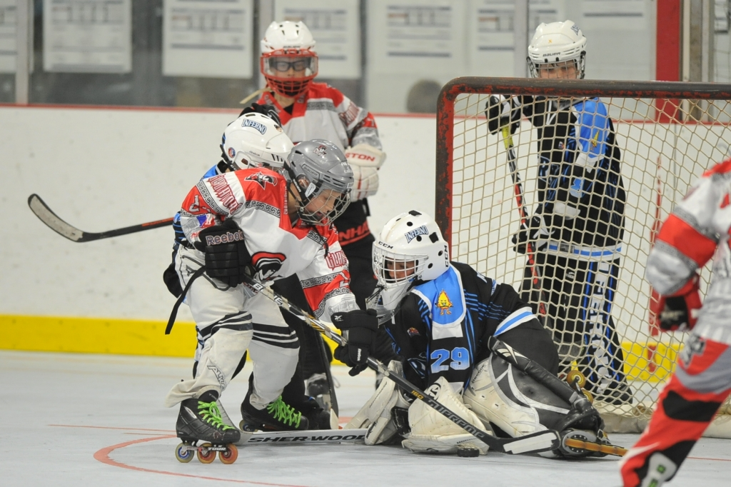 A group of youths playing roller hockey.jpg