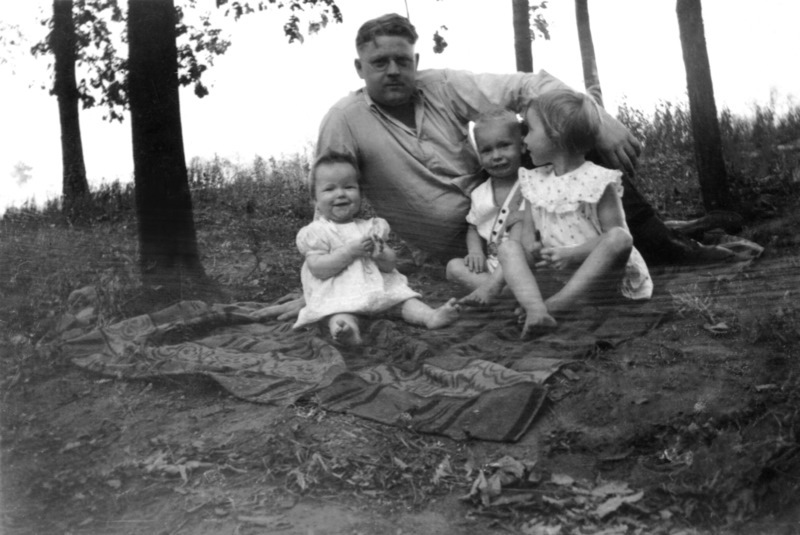 Me with my father and sisters Carolyn and Sally, 1934.