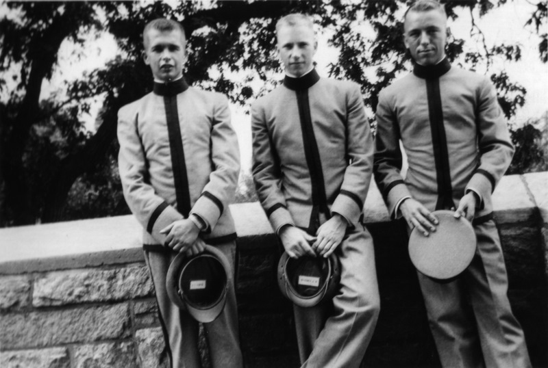 With my friends Jim and Dick in our first year at West Point, 1951.