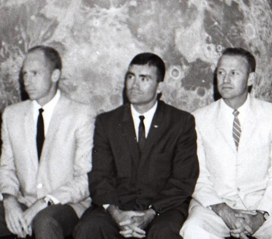 With Fred Haise and Jerry Carr during planetarium training.