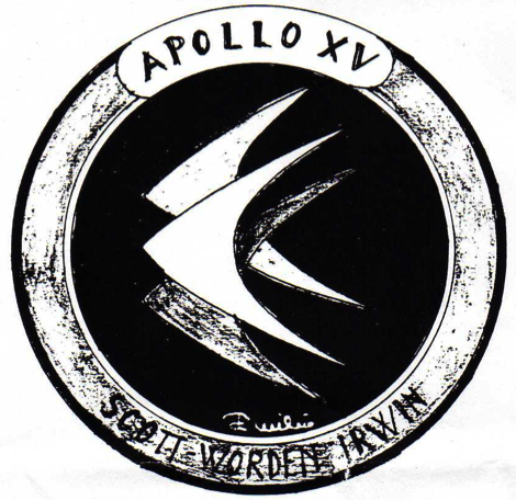 One of Emilio Pucci's second-draft ideas for our mission patch.