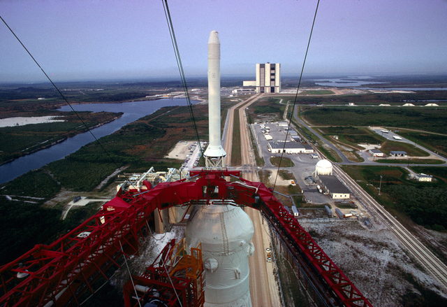 The view at the top of our rocket.