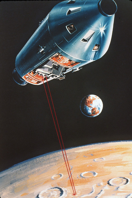 Artist's impression of the SIM bay I operated in lunar orbit.