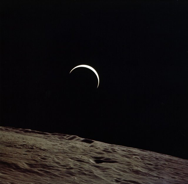I never grew tired of watching Earth rise above the moon.