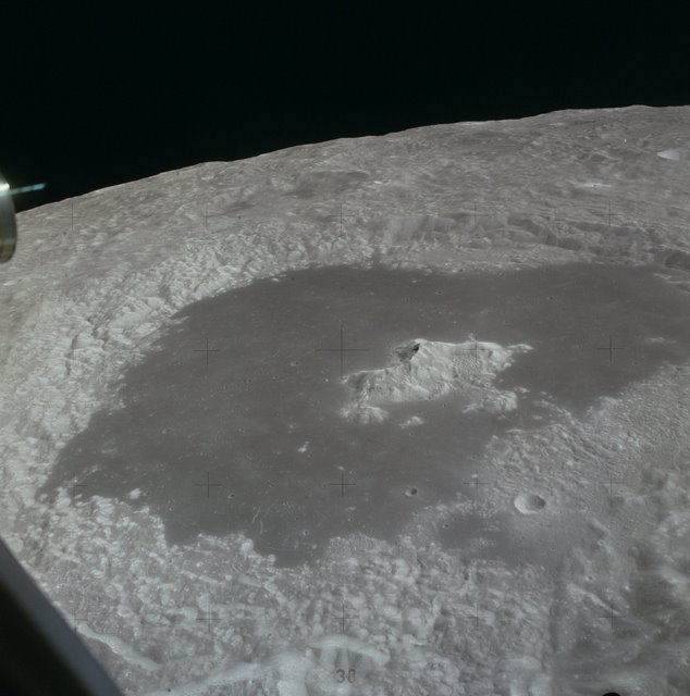 The magnificent Tsiolkovsky crater from lunar orbit.