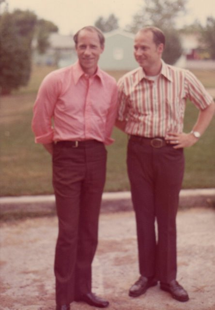 With my brother Jerry in September 1971.