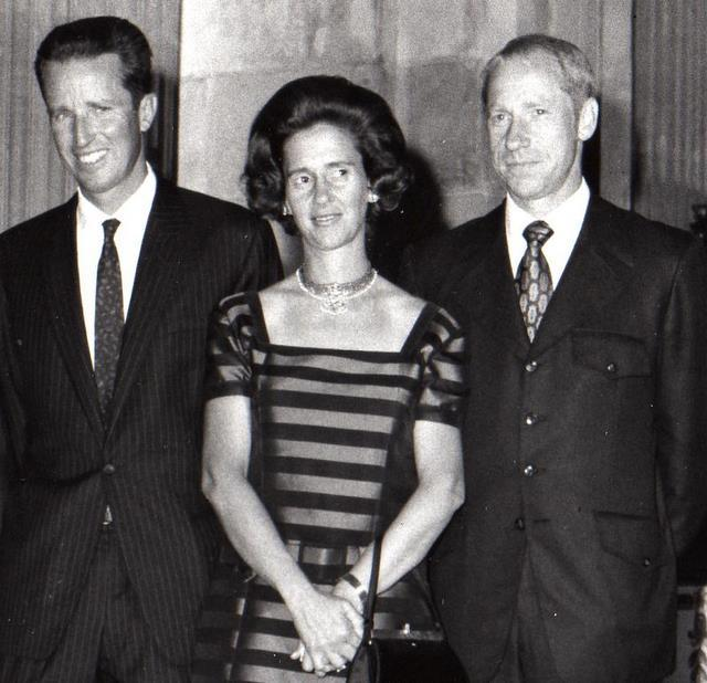 With King Baudouin I and Queen Fabiola of Belgium during the post-flight world tour.