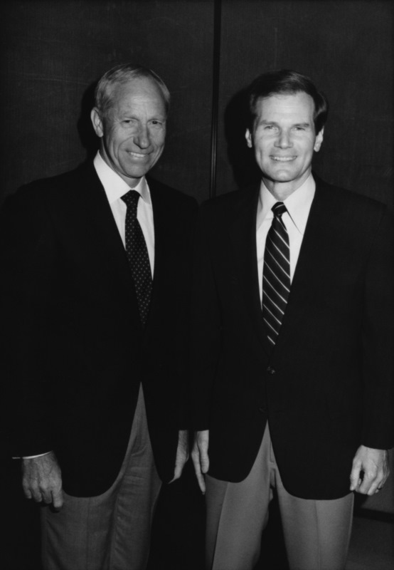 With Congressman Bill Nelson in 1982, when I was running for Congress too. Bill went on to fly in the space shuttle and is now a Senator.
