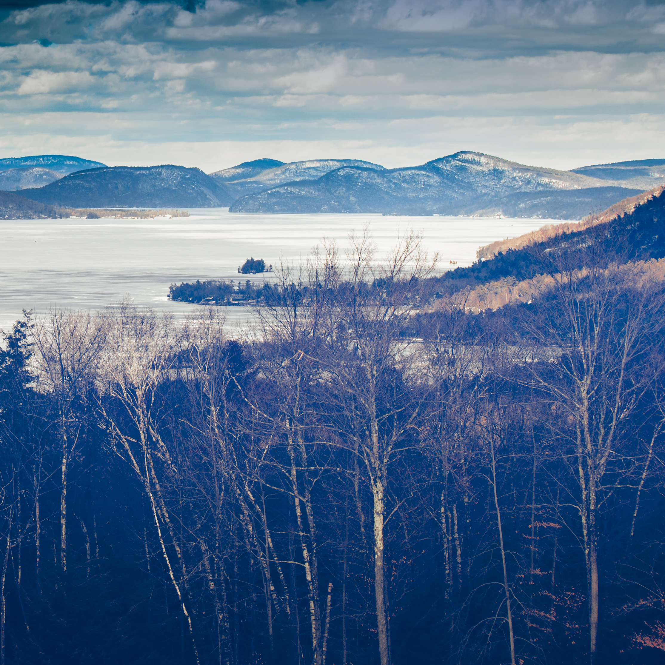 Looking north on Lake George