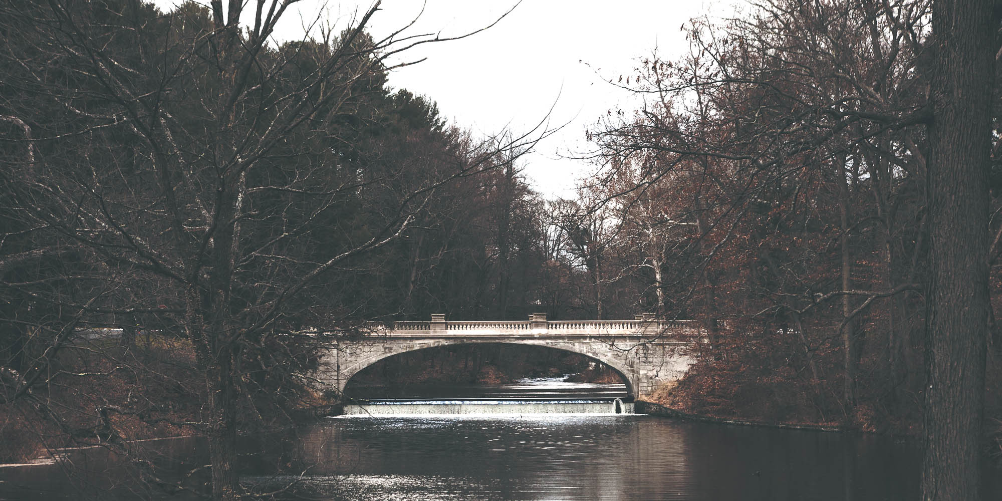 The bridge that connects Route 9 and the property.
