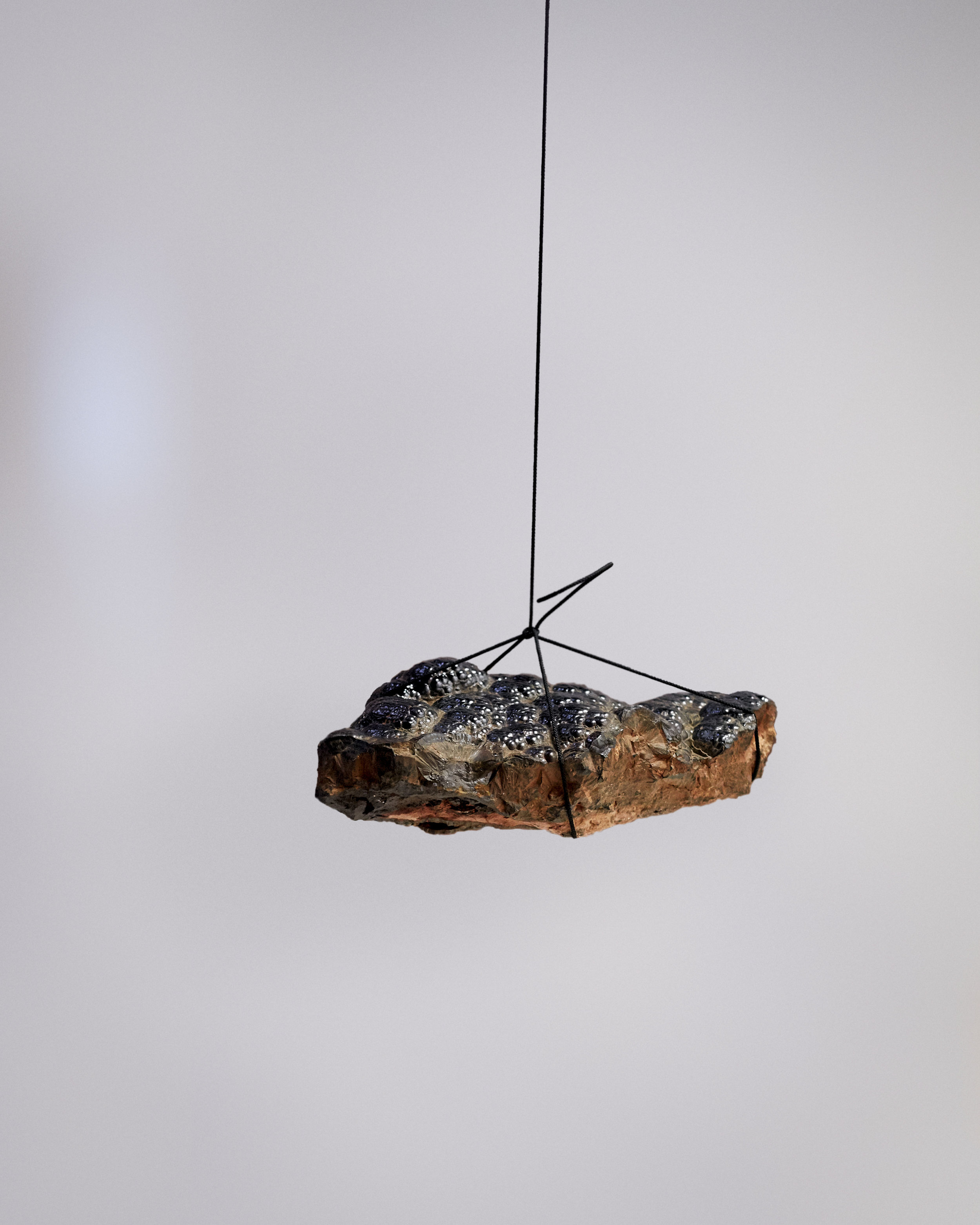 Magnetised Iron Ore, 2019 (Hematite, nautical cord, Neodymium Magnets)