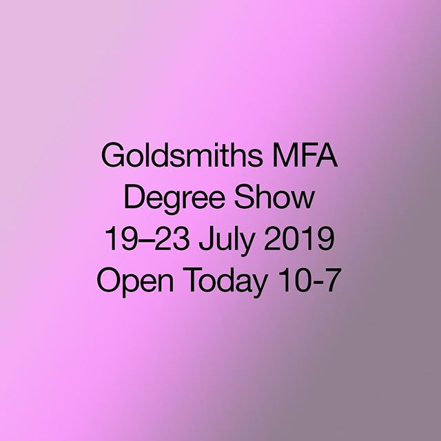 Goldsmiths MFA degree show opens today from 10-7⠀ ⠀ Please join us in St. James Hatcham Church, the Ben Pimlott Building and the Laurie Grove Baths.⠀ ⠀ Opening times for the show are:⠀ ⠀ Monday 22nd 10am to 7pm⠀ Tuesday 23rd 10am to 7pm⠀ ⠀ #contemporaryart #goldsmithsmfa #degreeshow #goldsmiths #londonart