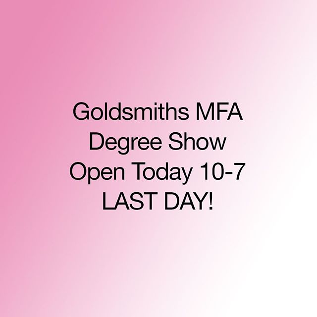 ⏳LAST CHANCE!⠀ Goldsmiths MFA degree show opens today from 10-7⠀ ⠀ Please join us in St. James Hatcham Church, the Ben Pimlott Building and the Laurie Grove Baths.⠀ ⠀ #contemporaryart #goldsmithsmfa #degreeshow #goldsmiths #londonart