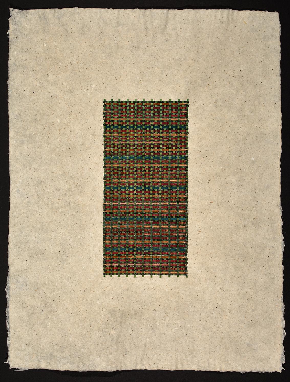 "18"" x 22"" Handmade kozo paper—woven with archival fine art paper ."