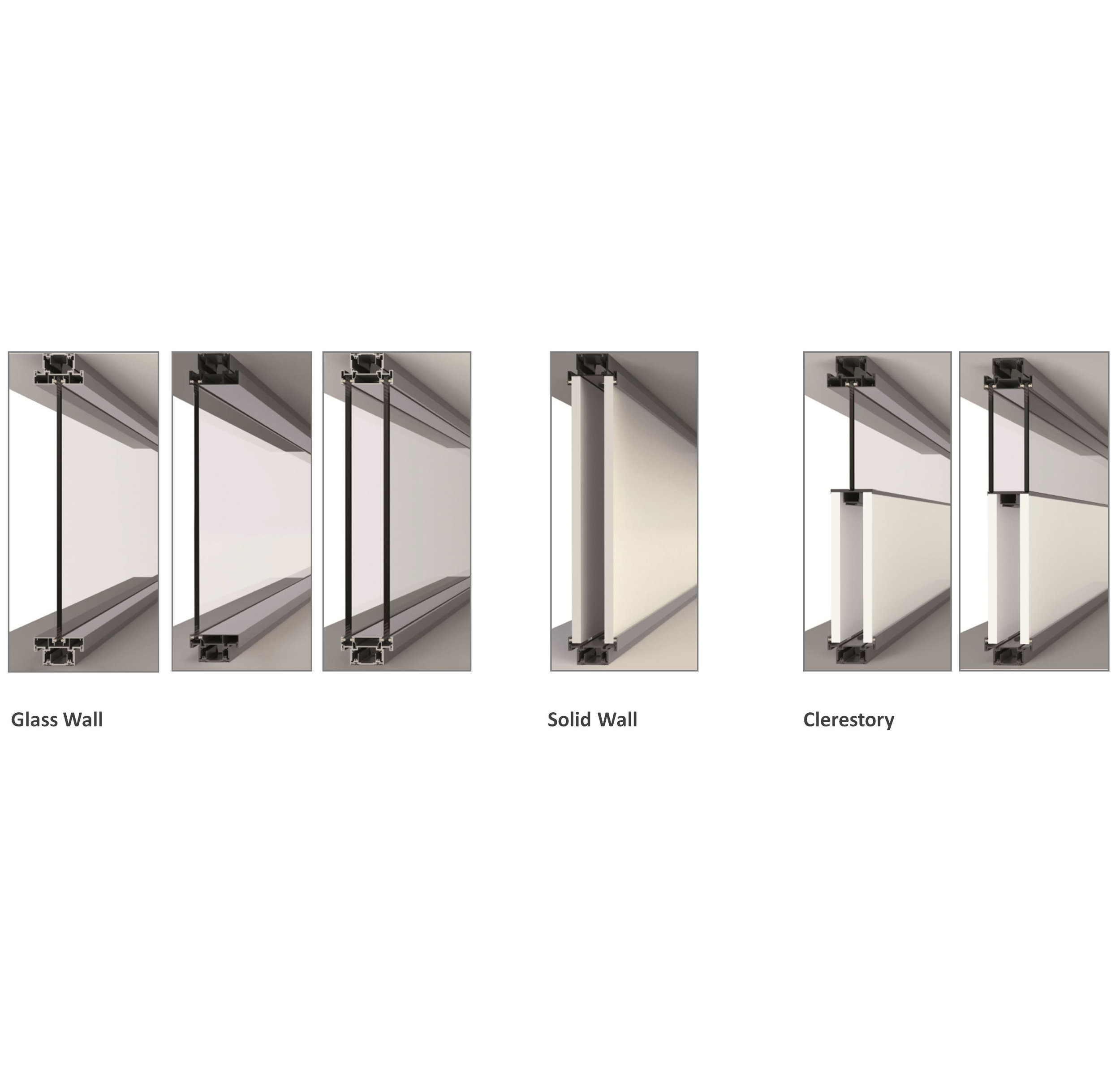 Wide variety of wall configurations.