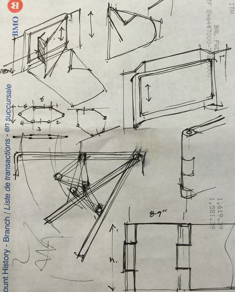 Understanding the required geometry to articulate a large monitor.