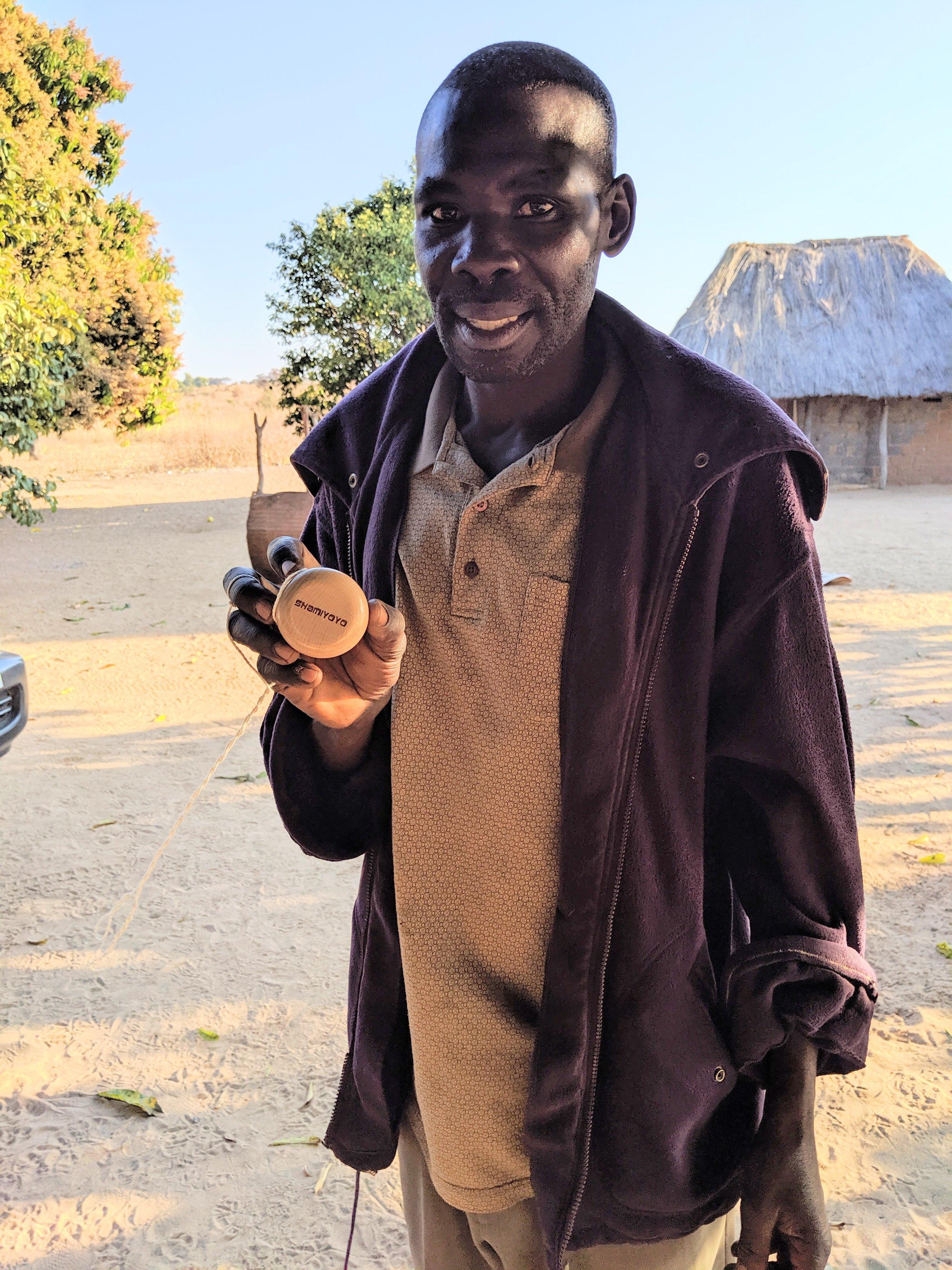 Mr. Charles Shamiyoyo with his new yoyo