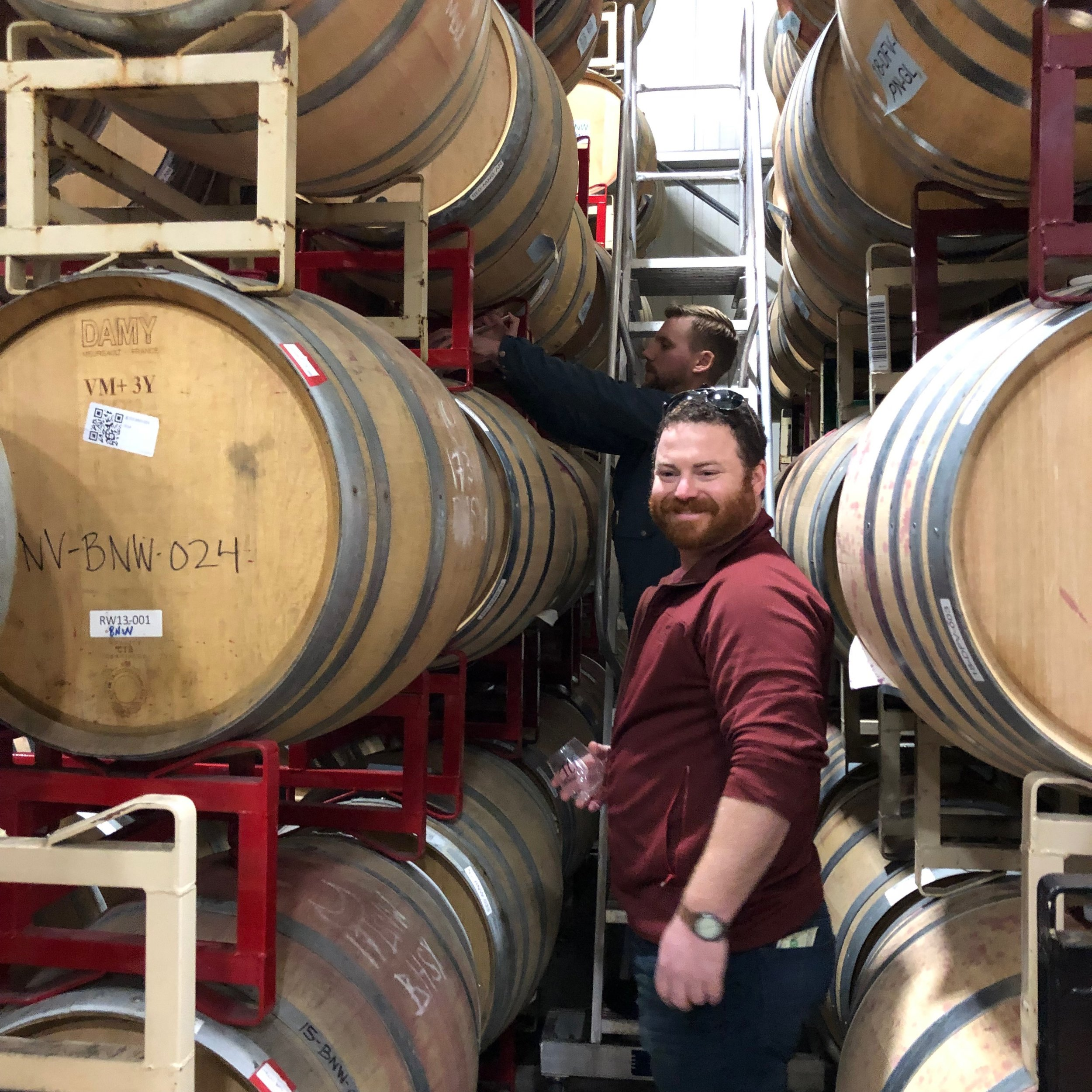 "Ben and Matt's attraction to Syrah is like many devotees of the grape. The smoky spice, floral, meaty, ""savage"" character of Syrah is a little wild, untamed, intriguing and can be absolutely delicious. -"