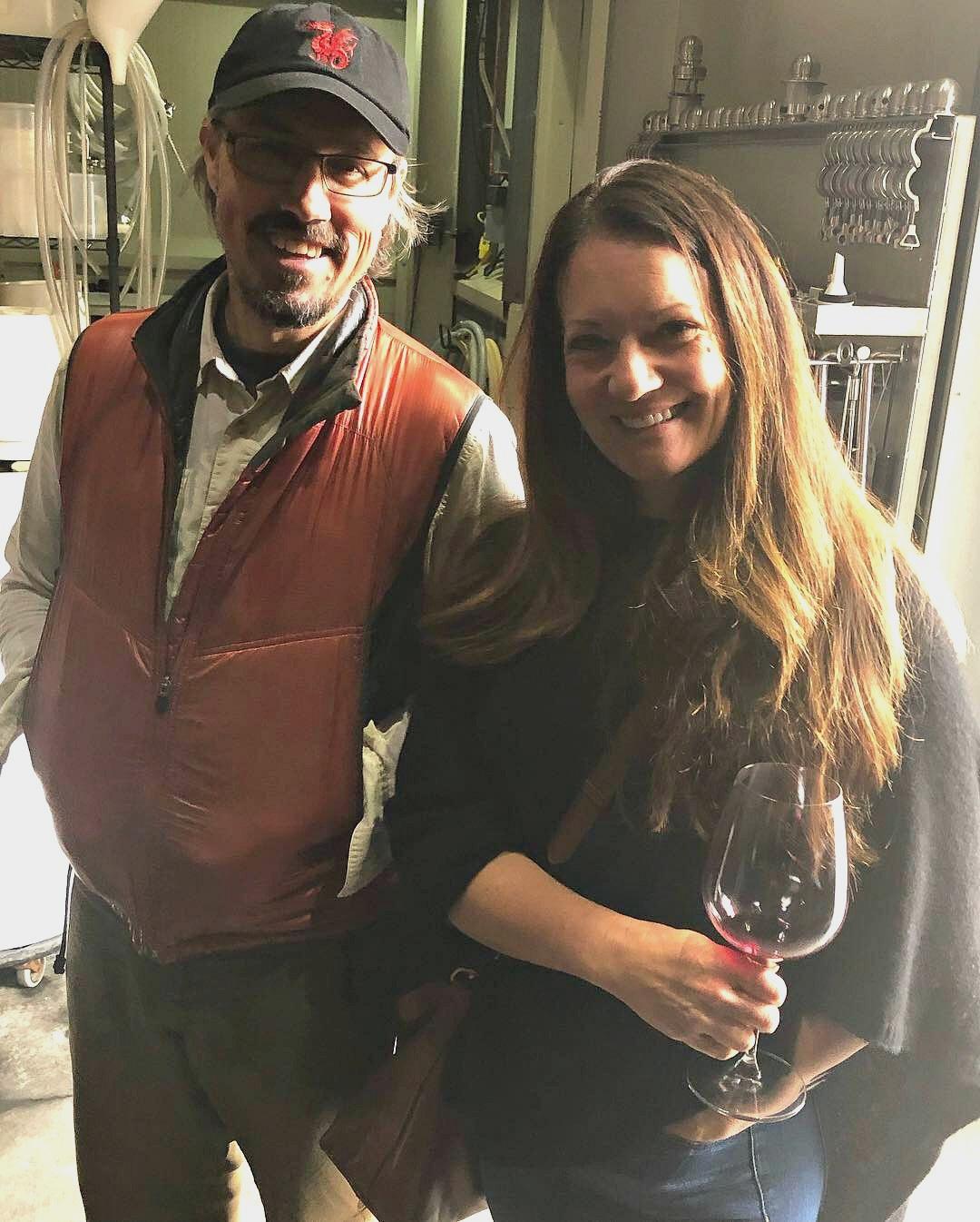 Geoff and Rachel Davies of Stellareese Wines -