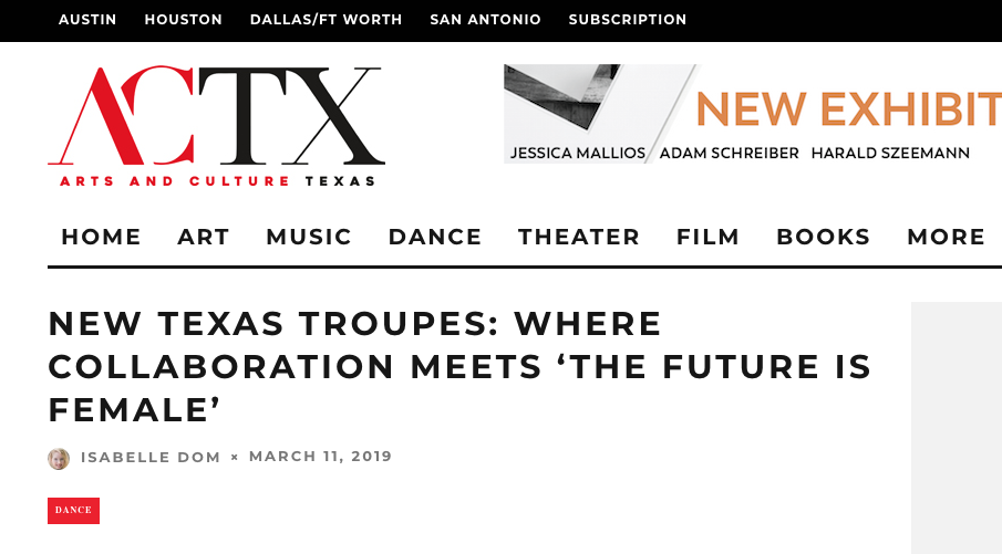 Arts and Culture Texas Magazine - March 11, 2019