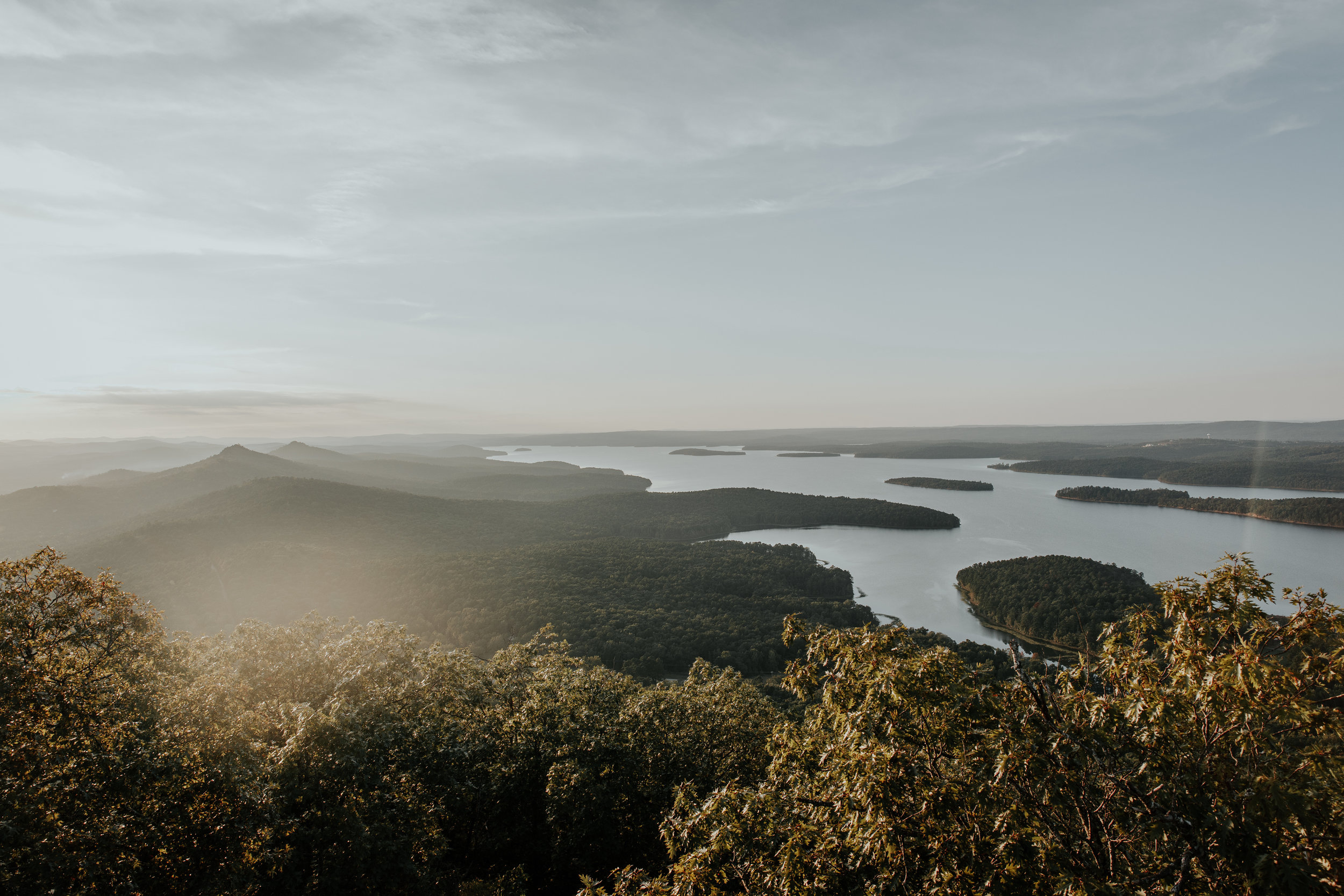Summit of Pinnacle Mountain in Little Rock, Arkansas