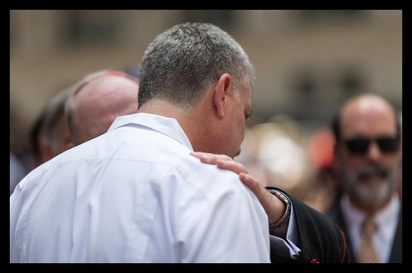 The Cardinal and the Mayor schmoozing