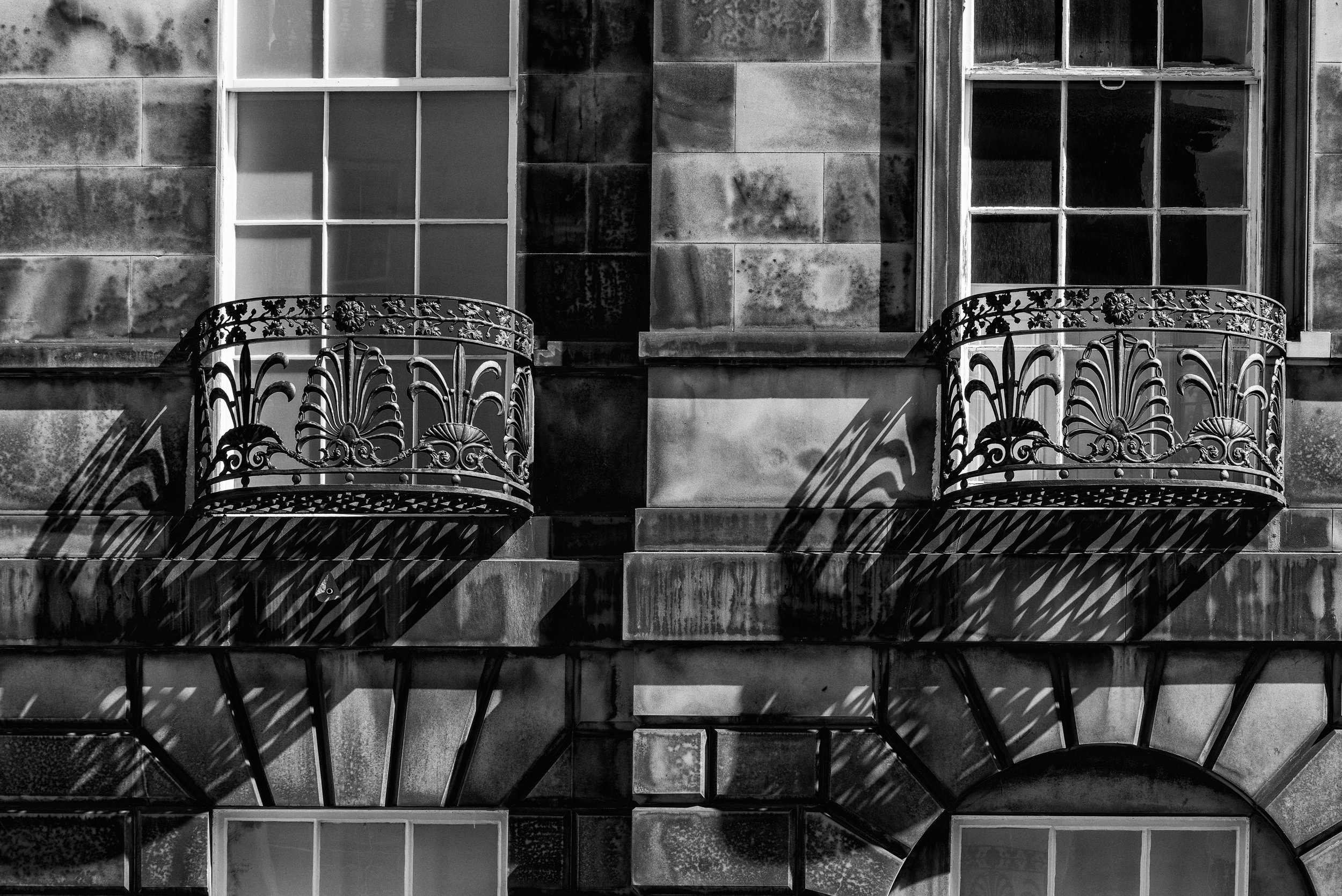 Ironwork in Alva Street, Edinburgh