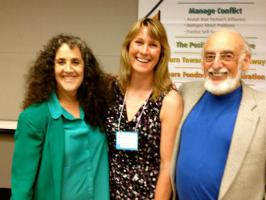 Peg with Drs. Julie and John Gottman in 2006