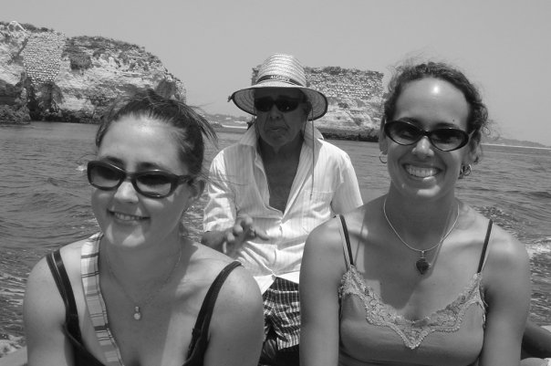 Myself (on the left) along with friend and colleague Lauren Radovich (on the right) exploring the Algarve in Portugal. (our guide is pictured in the middle)
