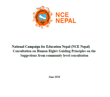 Nepal community consultation - Consultation ReportNepal, June 2018